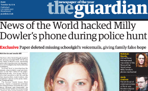News of the World hacked Milly Dowler's phone during police hunt